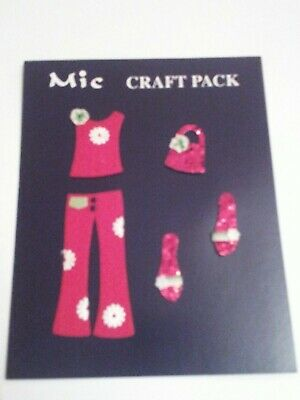 MIC Pack of 'Red Hippy Chick' Craft Embellishments