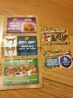 2 tickets to Chessington world of adventure Monday 23rd September