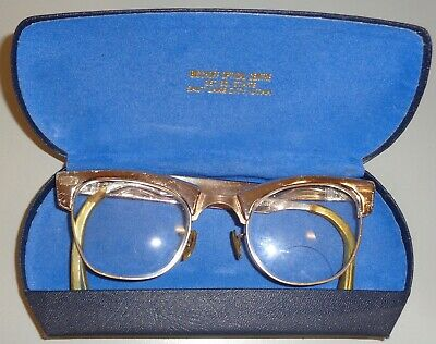 Vintage Womens Aluminum Cat-Eye Style Eyeglasses Silver Good Pre-Owned Condition