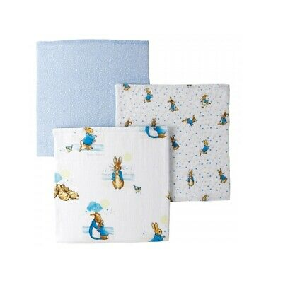 Beatrix Potter A29582 Peter Rabbit Baby Muslin Squares Set of 3