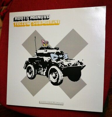 Roots Manuva Yellow Submrine BADMEANINGOOD Lp Banksy 2001 Dismaland walled hotel