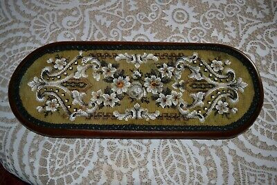 Victorian Beadwork Pot Stand or Clock Stand in stunning Condition