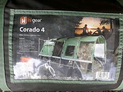 Hi Gear Corado 4. Large family tent, groundsheet and carpet. Excellent condition