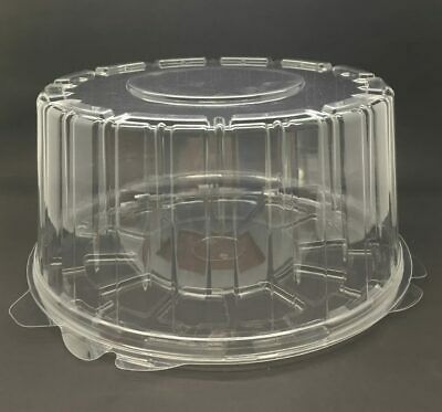 Clear Cake Base & Lids 25x12cm (Pack of 30)