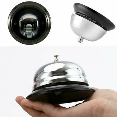 Portable Restaurant Hotel Kitchen Service Steel Bell Ring Desk Call Ringer L8I5