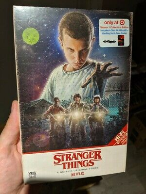 Stranger Things Season 1 Target Exclusive VHS Packaging (Blu-ray + 4K UHD) NEW!!