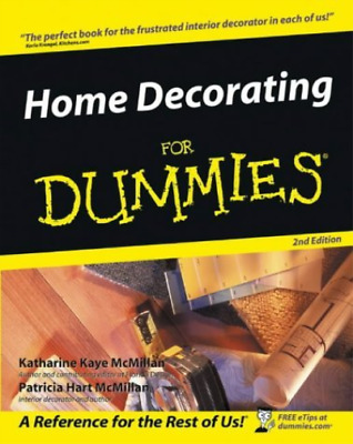 Home Decorating for Dummies (2nd Revised edition) (UK IMPORT) BOOK NEW