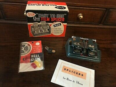 Vintage Easy To Use Arrow Film Splicer 8 mm /16 mm with Original box