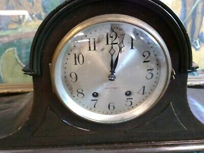 Antique Seth Thomas Mantle Domed Onion Head Clock Working Chimes with Key