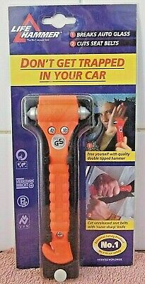 LIFE HAMMER - BREAKS GLASS - CUTS SEAT BELT - Don`t Get Trapped -  New
