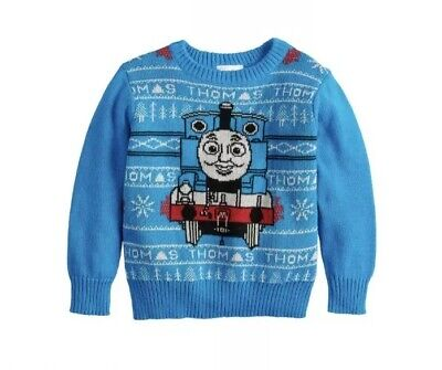 Toddler Boy Jumping Beans® Thomas the Train Holiday Knit Sweater 2t 3t 4t 5t