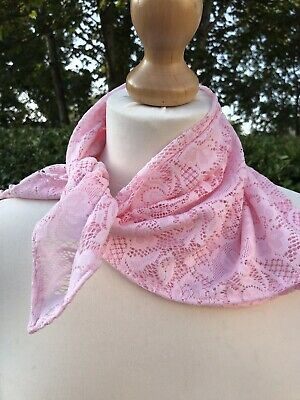 Baby Pink Stretch Lace Neck Head scarf sweet lolita rockabilly ballerina party