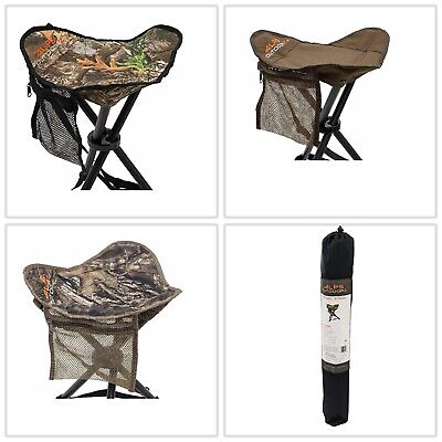 Hunting Supplies Hunters Camo Tripod Folding Stool Chair Seat Realtree Tri-Leg