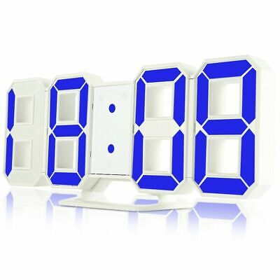 Famirosa TS - S60 - W 3D LED Digital Alarm Clock 24 / 12 Hours Display for Home