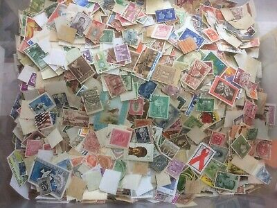 100 grams of mixed World off paper Stamps Approx 1000++ see description below