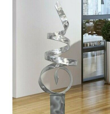 Large Abstract Silver Metal Sculpture Modern Art Indoor Outdoor Decor Jon Allen