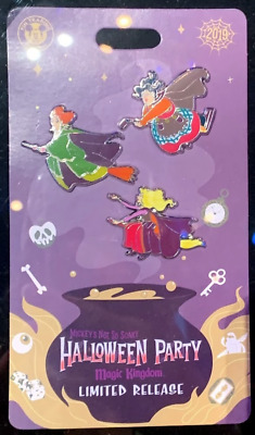 NEW 2019 Disney MNSSHP Mickey Not So Scary Halloween Party Hocus Pocus 3 Pin Set