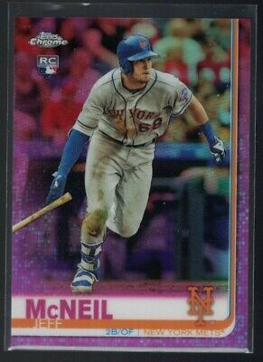 🔥 2019 Topps Chrome  PINK Refractor  Rookie Rc Jeff McNeil 🔥