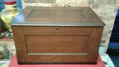 Antique Mahogany Document Box Vgc