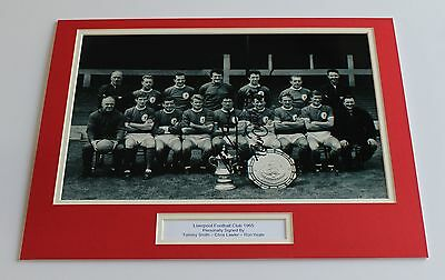 LIVERPOOL 1965 Yeats Lawler Smith HAND SIGNED Autograph Photo Mount + COA Proof