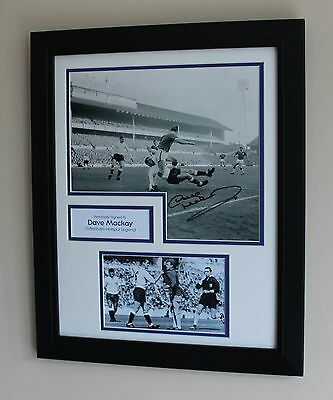 FRAMED Dave Mackay Tottenham Hotspur Legend HAND SIGNED Photo Mount + COA Proof