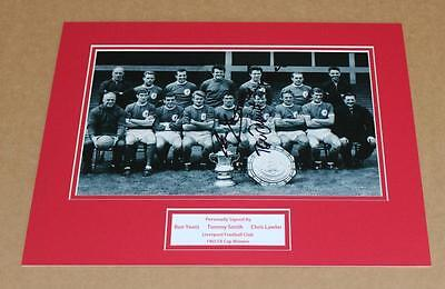 Tommy Smith Ron Yeats Chris Lawler Liverpool Hand Signed Photo Mount + Coa