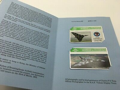 Vulcan Xh558 X2 Limited Edition Phonecards Aircraft Bt