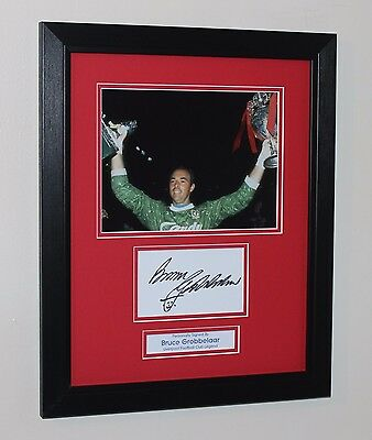 Framed Bruce Grobbelaar Liverpool HAND SIGNED Autograph Photo Mount COA Proof