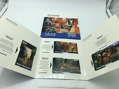 Australian Collector Phonecards Animal Eyes 1994 2500 Sets Only
