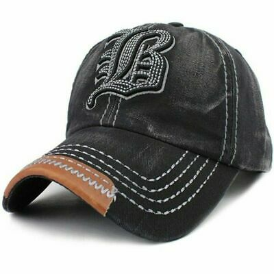 Adjustable Baseball Cap Embroidery Letter B Unstructured Cotton Women Hats