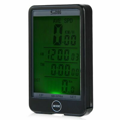 SD - 576A Auto Light Mode Touch Wired Bicycle Computer Speedometer with Line