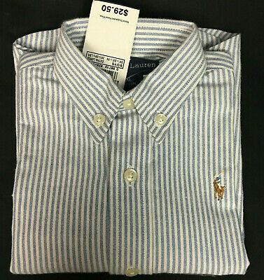 NWT Ralph Lauren Boys 18-24 Mo L/S 100% Cotton Dress Shirt MSRP $29.50