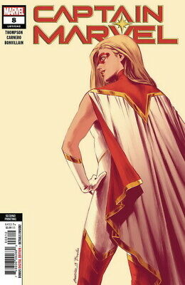 CAPTAIN MARVEL (2018 MARVEL) #8 2ND PTG CARNERO NEW ART In Hand