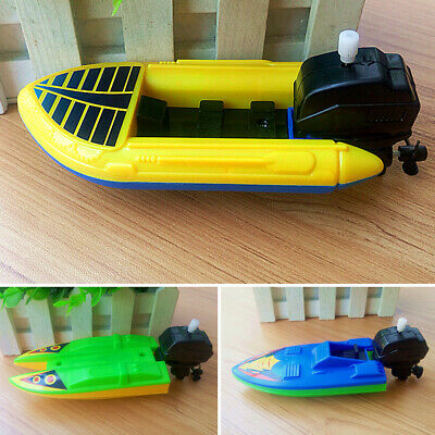Kids Baby Bath Time Play Wind Up Boat Ship Clockwork Toy Summer Child Bathing