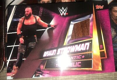 WWE Slam Attax Universe Limited Edition Table Relic Card Braun Strowman Topps