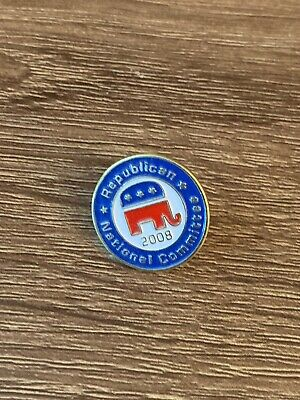"1"" Republican Committee 2008 Pin"