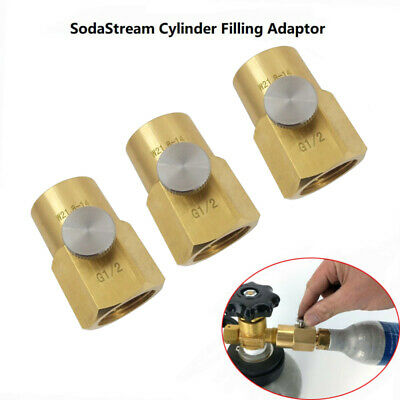 For SodaStream Cylinder Refill Adapter + Bleed Valve +W21.8-14 CGA320 Connector