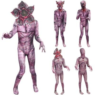 Kids Stranger Things The Monster Demogorgon Jumpsuit Breathe Mask Costume Lot UK