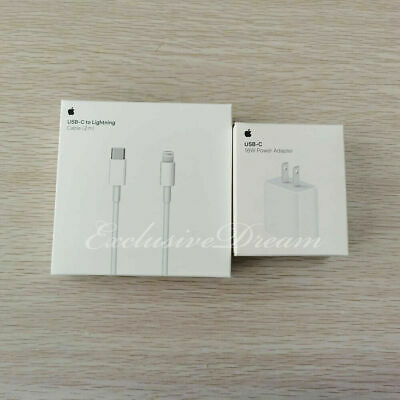 Apple 18w Charger USB-C Power Adapter OEM Fast iPhone 11 Pro Max XR Xs iPad Air
