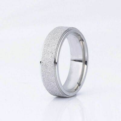 Fashion 6mm Stainless Steel Band Ring Couple Men Women Wedding Jewelry #12 Rings