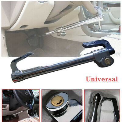 Car Adjustable Double Hook Steering Wheel Lock Anti Theft Brake Clutch Durable