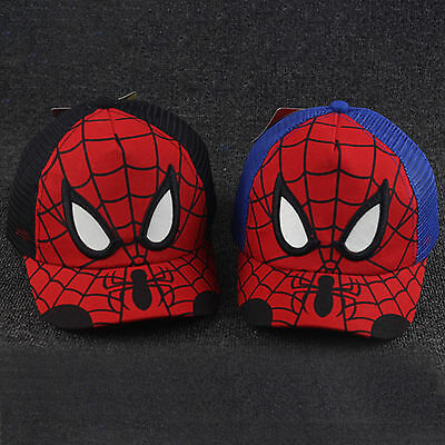 Kids Boys Spiderman Baseball Cap Adjustable Trucker Mesh Snapback Hip-hop Hat