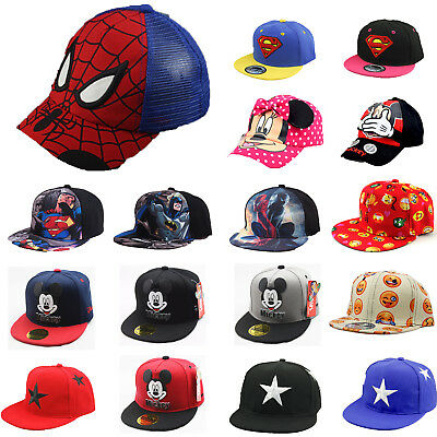 Child Kid Spiderman Baseball Cap Hat Sport Baby Boys Girl Hip Hop Sun Snapback