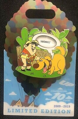 Disney Parks Pin LE 3000 Up 10th Anniversary 10 Years Russel Dug Quotes Spinner
