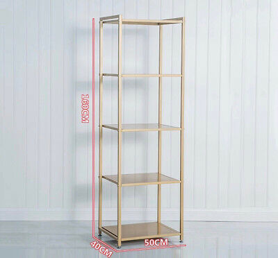 Gold Shelf Retail Shop Commercial / Markets / Home Display Middle Shelf Metal