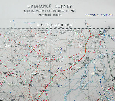 1951 Old OS Ordnance Survey 1:25000 First Series War Office Map SU 77 Reading E