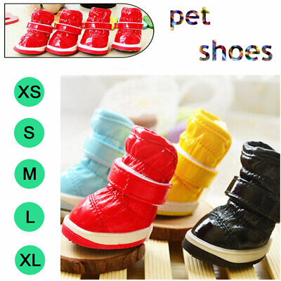 4pcs/set Winter Cute Pet Shoe Dog Waterproof Shoes Rain Boots For Dog Cat Puppy