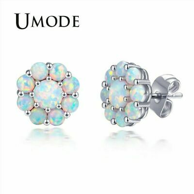 UMODE New Luxury Fashion Nature Fire Opal Flower Earrings for Women Female
