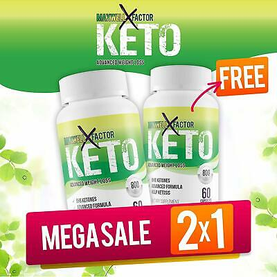 Maxwell Keto X Factor Advanced Weight Loss Burn Fat Faster in Ketosis 2 Pack
