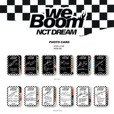 Nct Dream - 3Rd Mini Album We Boom Photo Card Jisung Jeno Jaemin Haechan Renjun